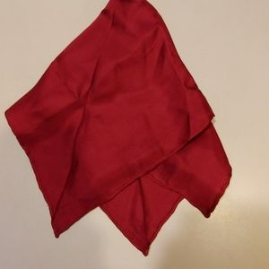 Accessories - 100% Silk Deep Red Kerchief